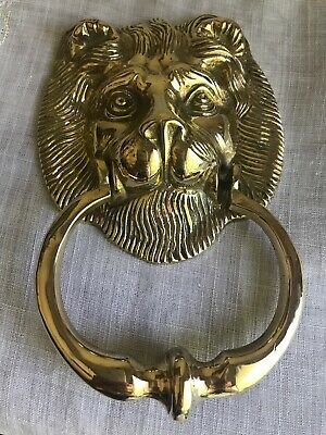Super Shiny Vintage Brass Lionhead Door Knocker