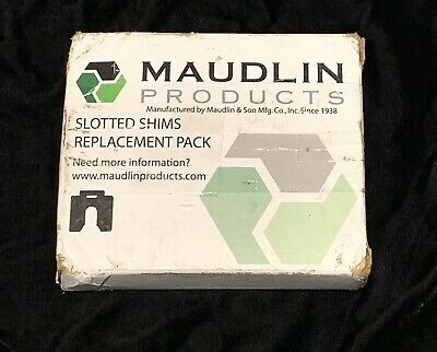 """10 Qty MAUDLIN PRODUCTS MSC075-10 Slotted Shim C-4 x 4"""" x 0.075"""""""