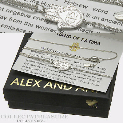 2b4cd6d2dda9f AUTHENTIC ALEX AND Ani Hand of Fatima Sterling Silver Adjustable 18 ...