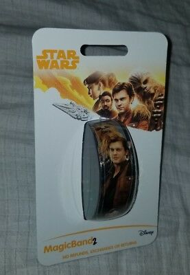 NEW Disney Parks Star Wars Han Solo Chewbacca Magic Band 2 LINKABLE