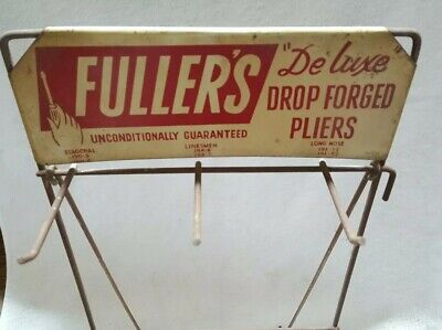 Advertising Metal Store Display Rack For Fuller's Forged Pliers