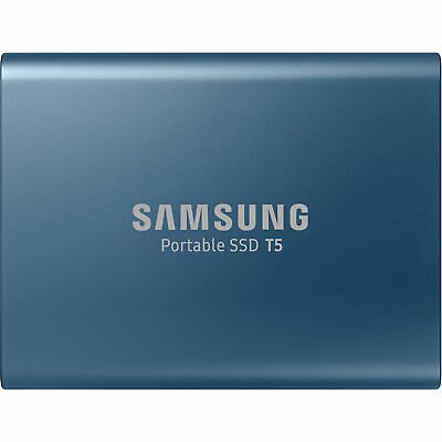 Samsung T5 500GB USB Type C Portable External Hard Drive HDD SSD 540MB/S Blue