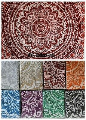 Ombre Indian Mandala Cotton Wall Hanging Tapestry Bohemian Room Decor Posters