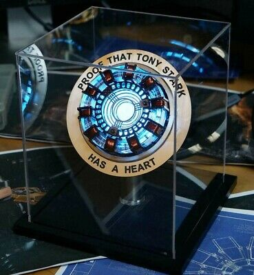 Iron Man Arc Ark Reactor LED Lights Heart Pioneer Telecontrolled Reactor Scale