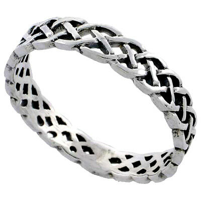 Bling Jewelry .925 Sterling Silver Wedding Band pollice punta anello 3mm