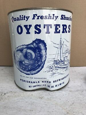 Vintage Gallon Madison Seafood Co Oyster Tin Can ~ Madison, Md. ~ Md 116. Jc