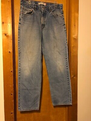 1690ae8b Levi Strauss Levis 550 Mens Loose Fit Blue Jeans Measured 34x 33 Free  Shipping