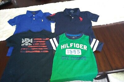 Lot (4) of Boys 4T Polos and Tees - Polo Ralph Lauren & Tommy Hilfiger