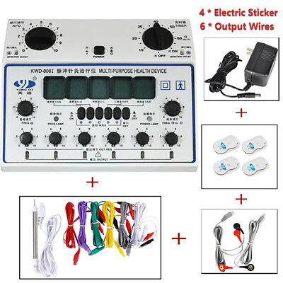Electric Acupuncture Stimulator Massager Machine KWD808-I 6 Output Patch Care Z