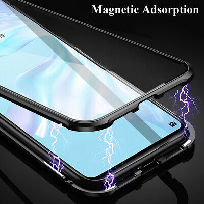 Magnetic Adsorption Bumper Tempered Glass Armor Case Cover for One Plus 7 Pro 6T