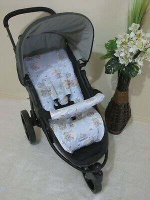 Stroller,pram liner set,universal,100% cotton fabric-Classic Dumbo-reversible