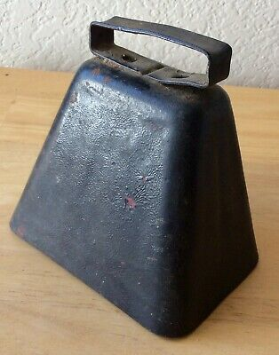 Antique Large Loud Cowbell, Deep Sound, Sporting Events, Dinner Cow Bell