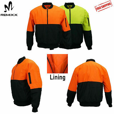 Hi Vis Safety Jacket Soft Shell Showerproof Windproof Warm Winter Coat