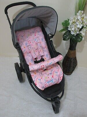 Stroller,pram liner set,100% cotton fabric-Nautical,pink Funky babyz,SALE*