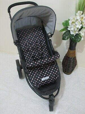 Stroller,pram liner set,100% cotton fabric-Nautical,black Funky Babyz,SALE*