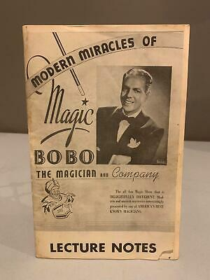 MODERN MIRACLES OF MAGIC Bobo The Magician LECTURE NOTES 1964 Ireland Magic Co.