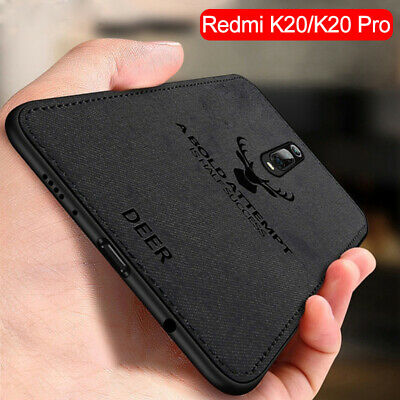 For Xiaomi Mi 9T Redmi K20 Pro Case Fabric Cloth Leather Soft Silicone TPU Cover