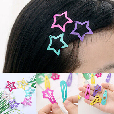 6Pcs/Set Hair Clips Snaps Hairpin Girls Baby Kids Hair Accessories Charm Gift