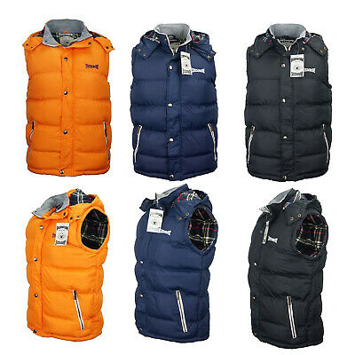 StichDodge Quilted Puffer Vest Jacket With Removable Hood Warm Winter Thick