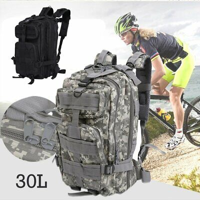 30L MEN SPORT BAG HIKING CAMPING BAG MILITARY TACTICAL BACKPACK three Colors