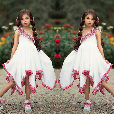 Toddler Baby Kids Girls Sleeveless Ruched Dress Dance Princess Dresses Clothes