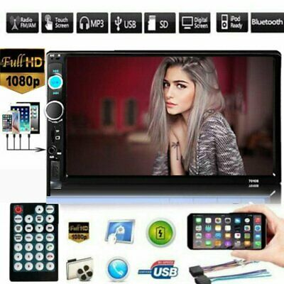"""7"""" Double 7010B 2 DIN Car GPS FM Stereo Radio MP5 Player Touch Screen Bluetooth"""