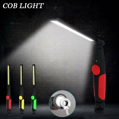 Cob Flashlight Rechargeable Magnetic Inspection Work Lamp Flexible Light Torch
