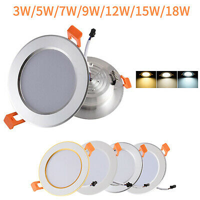 5W 7W 9W 12W 15W 18W LED Recessed Ceiling Down Light Panel Light 4 shell colors