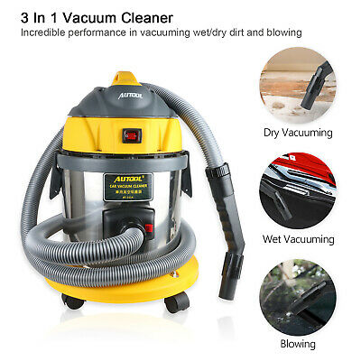 AUTOOL Wet Dry Vacuum Cleaners Stainless Steel Dry Wet Blow For Car Cleaning