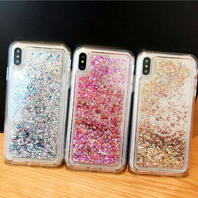 Dynamic Liquid Quicksand Glitter Case Cover For iPhone XS Max XR Xs 8 7 6s Plus