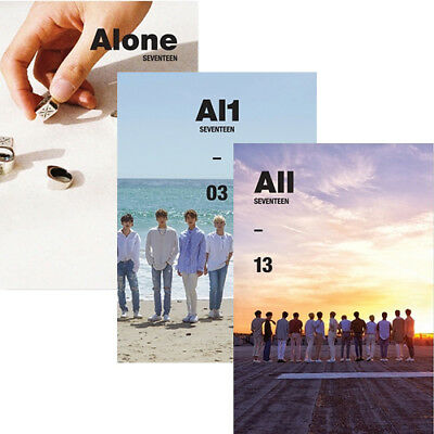 SEVENTEEN [AL1] 4th Mini Album 3 Ver SET 3CD+POSTER+3P.Book+6Card+3Sticker+GIFT