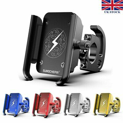 Motorcycle Motorbike Scooter Mobile Phone Holder Aluminum Alloy 360° Mount Stand