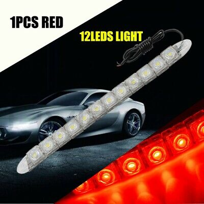 Red 12Led COB LED DRL Daytime Running Fog Light Lamp Super High Bright DC 12V