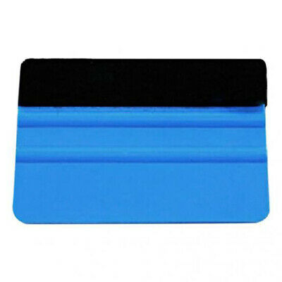 Blue Plastic Felt Edge Squeegee Car Vinyl Wrap Application Tool Scraper Decal