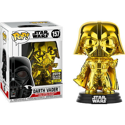 Star Wars - Darth Vader Gold Chrome Pop! Vinyl Figure (2019 Galactic Convention)