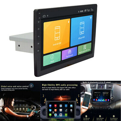"UK Single 1-Din Android 8.1 10""Car Stereo Radio GPS WiFi BT DAB Mirror Link OBD"