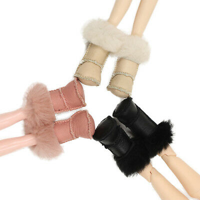 12 inch Doll Shoes Fashion Mid Calf Snow Boots for 1/6 Blythe Doll Shoes