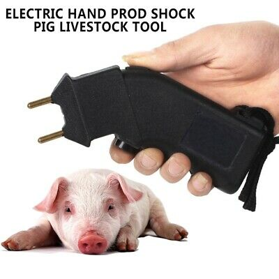6V Mini Electric Hand Cattle Prod Shock Goat Pig Livestock Tool Handhold Device