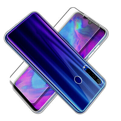 Case for Huawei Honor 20 Lite Front and Back 360 Cover + Glass Screen Protector