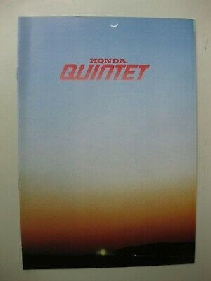 Honda Quintet brochure Prospekt Dutch Flemish text 8 pages 1981