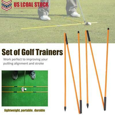 Portable Golf Alignment Sticks Rods Putting Ball Striking Aid Tour Outdoor