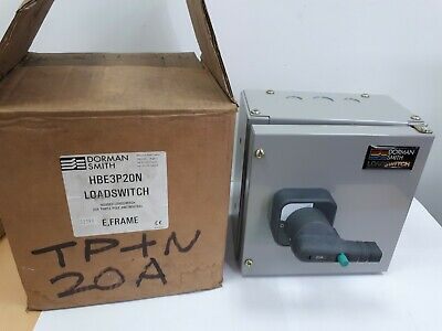 New Dorman Smith 32Amp TPN Fused Switch Disconnector ON/OFF HRC Fuse Isolator