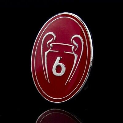 *Pre-Order* Liverpool FC 6 Champions League 2019 Badge of Honour Pin *Pre-Order*