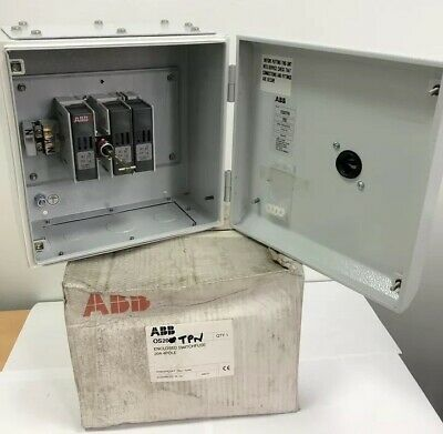 ABB 20Amp TPN Fused Switch Disconnector TP&N ON/OFF HRC Fuse Isolator 3P+N IP65