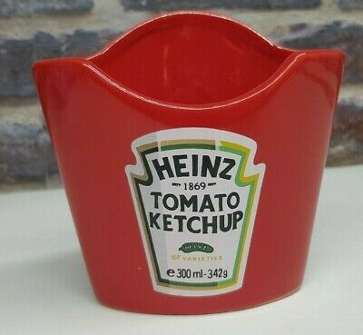 Heinz Tomato Ketchup Sauce Ceramic Fries//Chips Holder Advertising Party Food