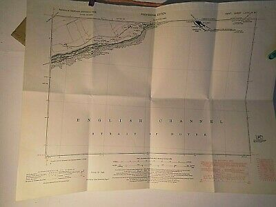 "Shakespeare Cliff,Dover Kent: Its Now Lost Coal Mine:6"" Scale Plan-Map 1858-1948"