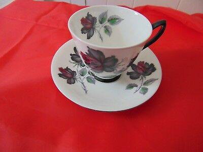 Royal Albert Bone China Masquerade Teacup and Saucer vintage