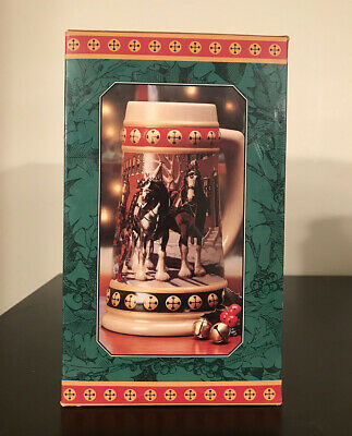 1994 Budweiser Holiday Stein New in Box with Certificate of Authenticity