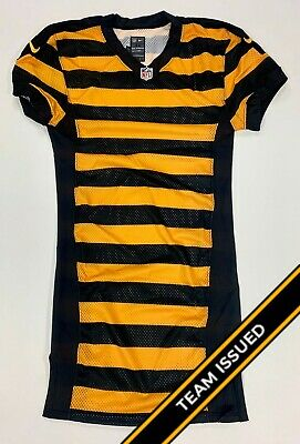 Pittsburgh Steelers Team Issued 2012-2016 Bumblebee Throwback Jersey Back Stock
