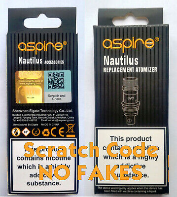 Genuine Aspire Nautilus Mini BVC Replacement Coils 0.7Ω1.6Ω1.8Ω MULTI PACK DEALS